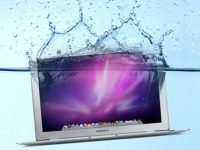 Liquid spilled Macbook