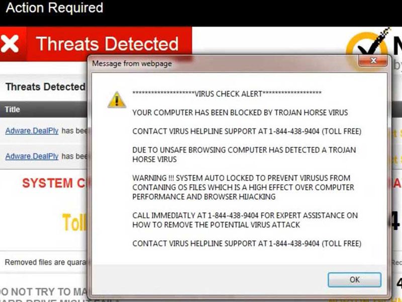 Virus Alert Message