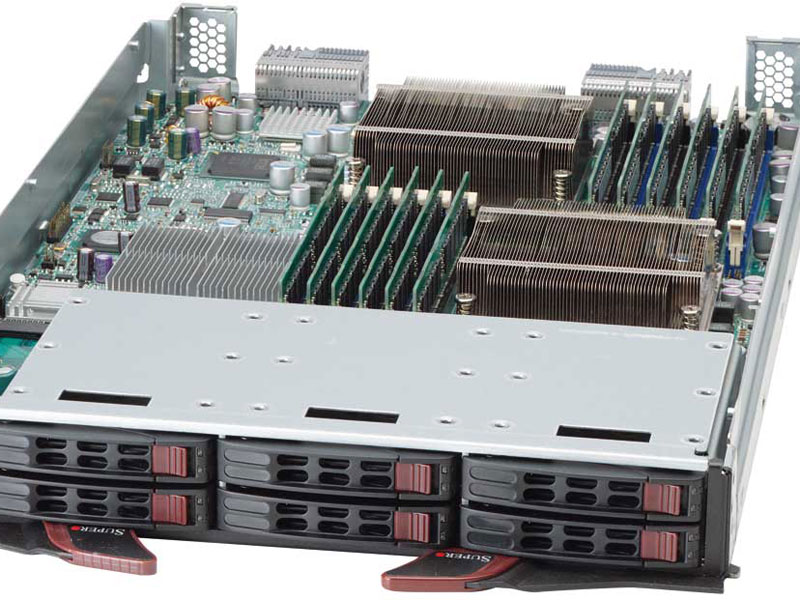 Open Rack Server Showing Hardware Components